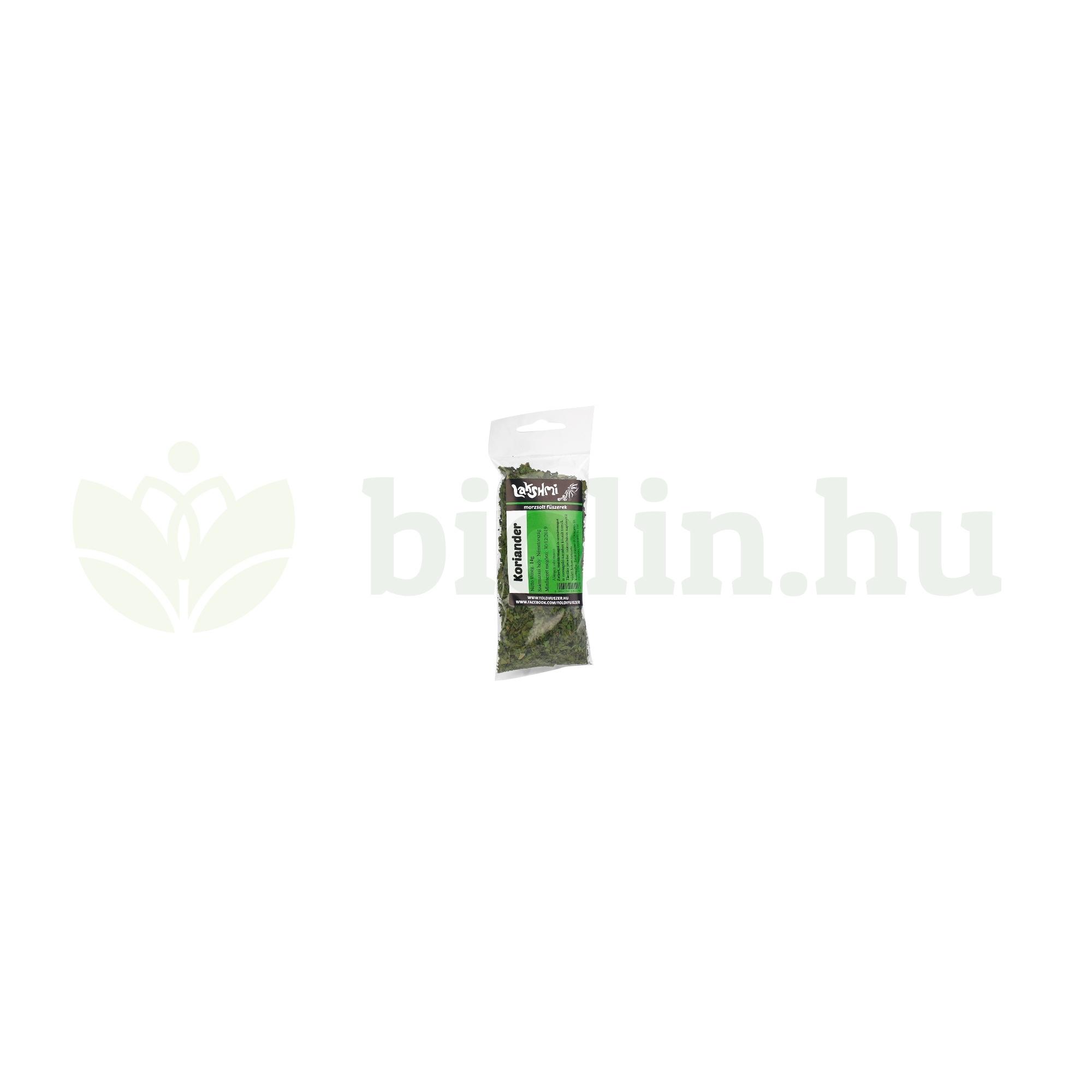 koriander levelek fogyni
