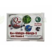 DR.CHEN Q10 GINKGO OMEGA-3 KAPSZULA 30DB