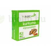 SUPERWELL KURKUMA+BROMELAIN 29,9G KAPSZULA 36DB