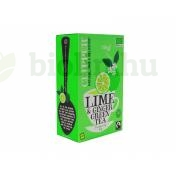 BIO CLIPPER FAIRTRADE ORGANIC ZÖLD TEA LIME ÉS GYÖMBÉRREL 20DB